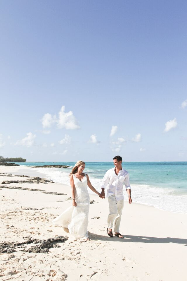 wedding walk on the beach