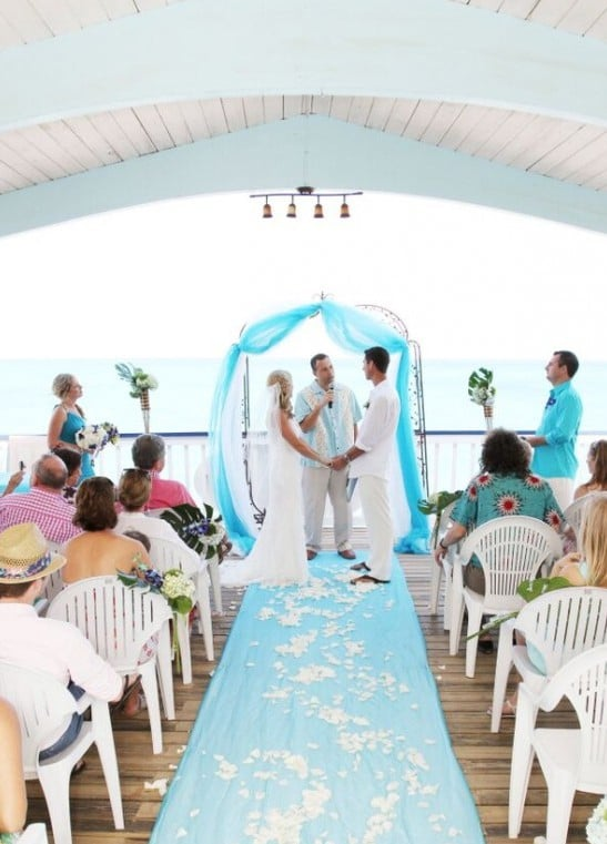 bahamas wedding on the deck